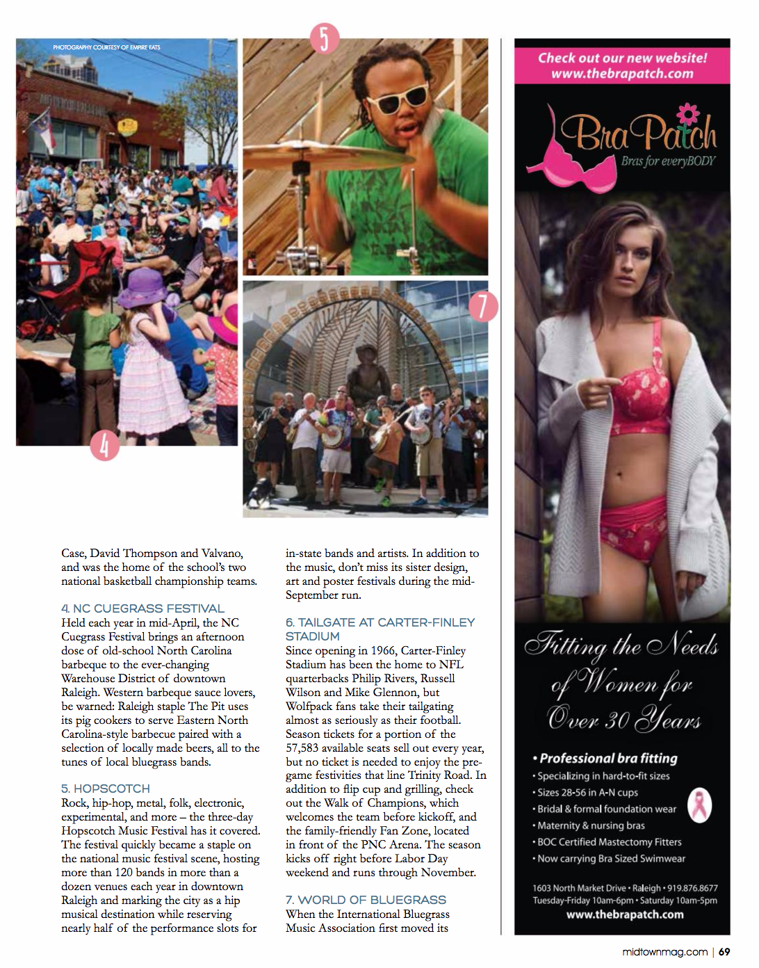 Bra Patch Featured in Midtown Magazine September/October 2016