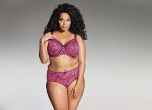 Kayla Goddess Underwire Bra in Mulberry